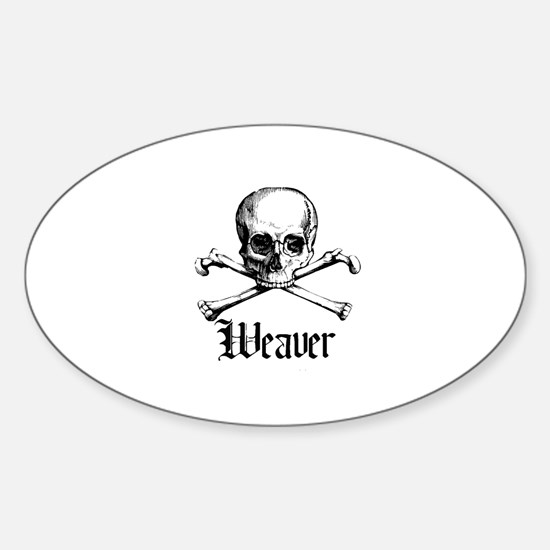 Weaver - Skull and Crossbones Oval Decal