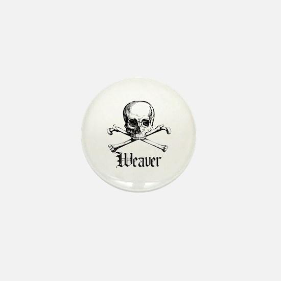 Weaver - Skull and Crossbones Mini Button