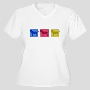 Color Row French Mastiff Women's Plus Size VNeck T