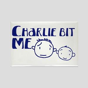 Charlie Bit Me Rectangle Magnet