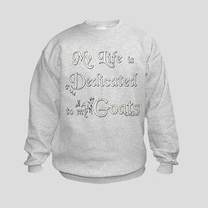 Dedicated to Goats Kids Sweatshirt