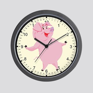 Dancing Pig Wall Clock