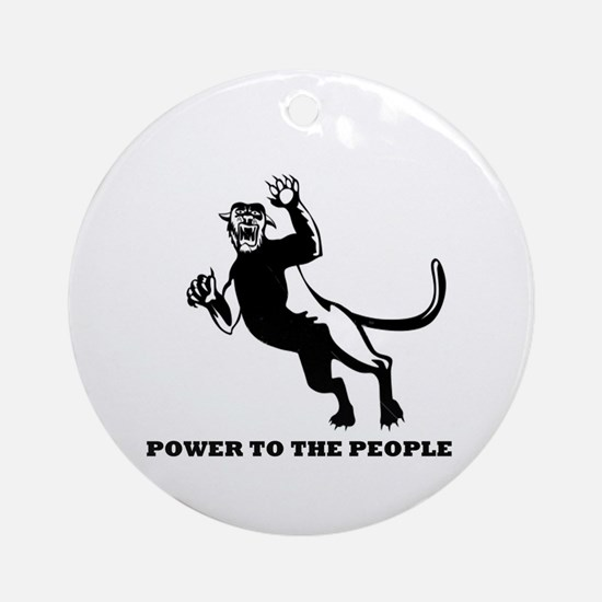 Black Panthers Power to the People Ornament (Round