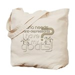 Goat Therapy Tote Bag