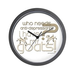 Goat Therapy Wall Clock