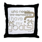 Goat Therapy Throw Pillow