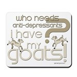 Goat Therapy Mousepad