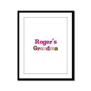 Roger's Grandma Framed Panel Print