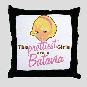 Prettiest Girls Batavia New York Throw Pillow