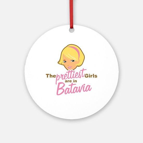 Prettiest Girls Batavia New York Ornament (Round)