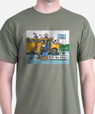 Male Bus Driver T-Shirt