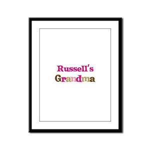 Russell's Grandma Framed Panel Print