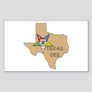 OES Texas Rectangle Sticker