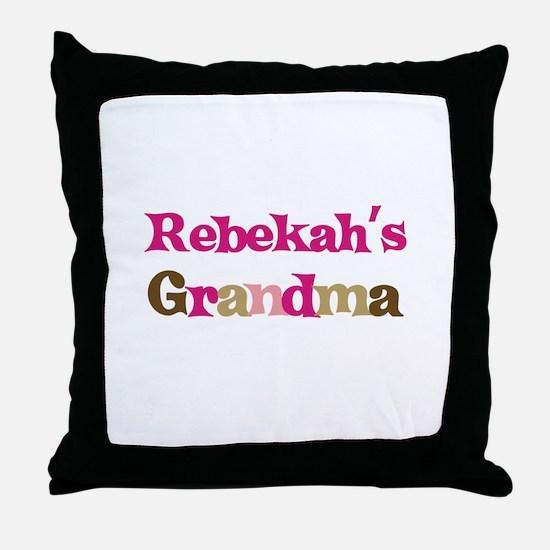 Rebekah's Grandma Throw Pillow