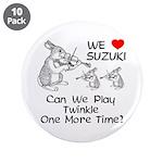 "Suzuki Violin Bunny 3.5"" Button (10 pack)"