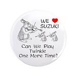"Suzuki Violin Bunny 3.5"" Button"