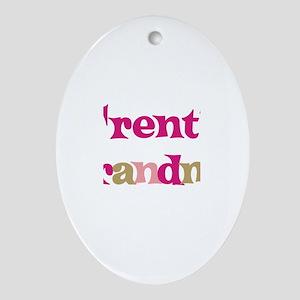 Trent's Grandma Oval Ornament