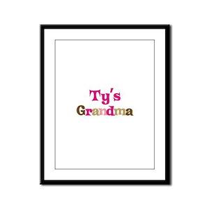 Ty's Grandma Framed Panel Print
