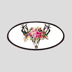 Bohemian Antler Skull Floral Bouquet Patch