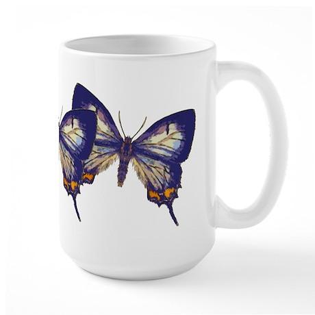Blue Butterfly Large Mug