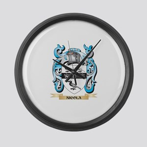 Nicola Coat of Arms - Family Cres Large Wall Clock