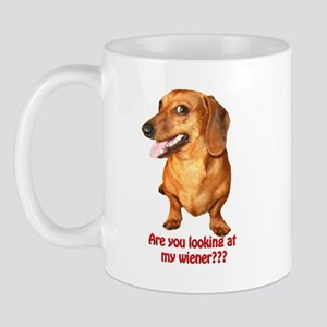 Are you looking at my wiener Dog Mugs