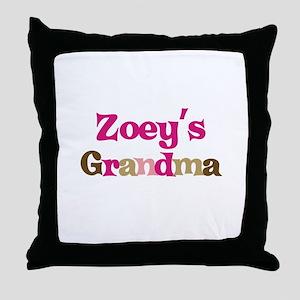 Zoey's Grandma Throw Pillow