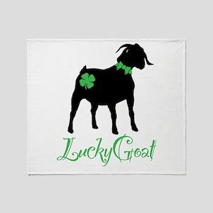 Lucky Goat Throw Blanket