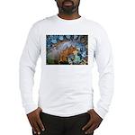 Beautiful Blues Pattern Long Sleeve T-Shirt