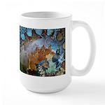 Beautiful Blues Pattern Large Mug