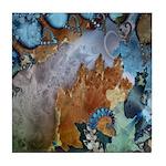Beautiful Blues Pattern Tile Coaster