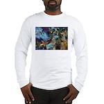 Beautiful Blues Design Long Sleeve T-Shirt