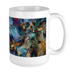 Beautiful Blues Design Large Mug