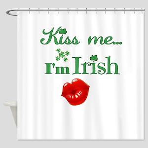 Kiss Me I'm Irish Shower Curtain