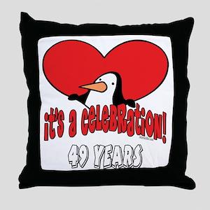 49th Celebration Throw Pillow