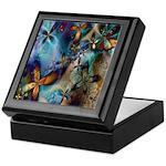Beautiful Blues Design Keepsake Box