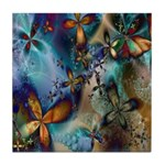 Beautiful Blues Design Tile Coaster