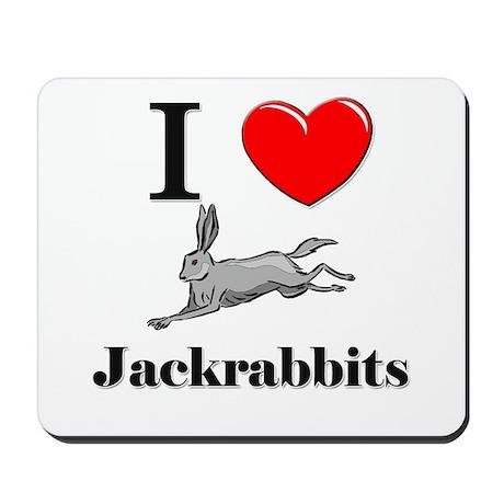 I Love Jackrabbits Mousepad