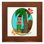 Hula Baby Framed Tile