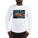 Beautiful Blues Fractal Long Sleeve T-Shirt