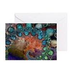 Beautiful Blues Fractal Greeting Cards (6)
