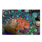 Beautiful Blues Fractal Postcards (Package of 8)