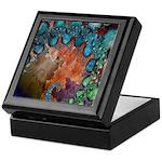 Beautiful Blues Fractal Keepsake Box
