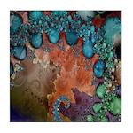 Beautiful Blues Fractal Tile Coaster