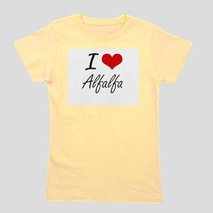 I Love Alfalfa Artistic Design T-Shirt