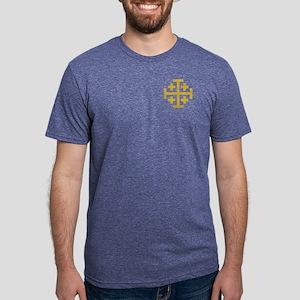 Crusaders Cross Mens Tri-blend T-Shirt