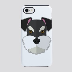 Cartoon Schnauzer iPhone 8/7 Tough Case