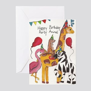 Party Animal Birthday Card Greeting Cards