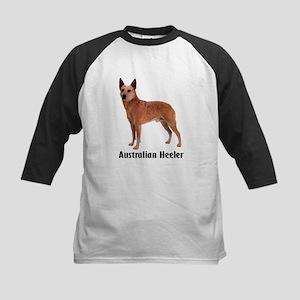 Australian Heeler Cattle Dog Kids Baseball Jersey