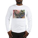 Pretty Pastels Fractal Design Long Sleeve T-Shirt